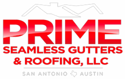 Prime Seamless Roofing & Gutters Logo
