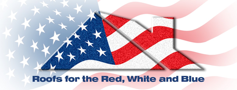 Our contractors have Roofs for the Red, White, and Blue for locals in San Antonio, TX.