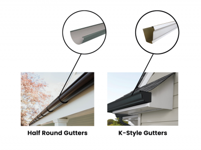 There are two main types of gutters to choose from in San Antonio, TX.