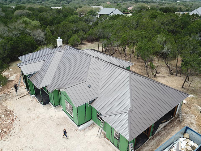 Standing seam metal roofing is the type we provide for San Antonio, TX.